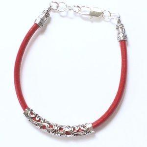 Jewelry - Red leather bracelet